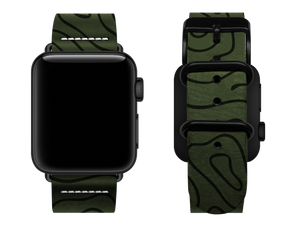 green woodgrain custom apple watch strap
