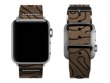 Load image into Gallery viewer, light brown woodgrain custom apple watch band