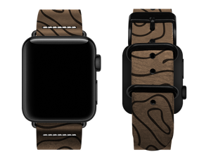 light brown woodgrain custom apple watch strap