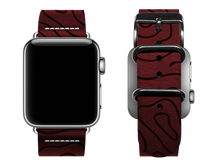 Load image into Gallery viewer, red woodgrain custom apple watch band