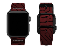 Load image into Gallery viewer, red woodgrain custom apple watch strap