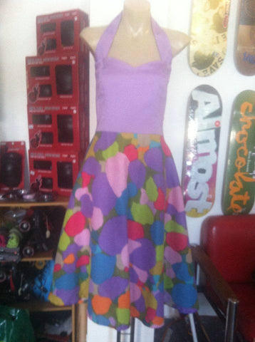 Purple With Patches Dress 12