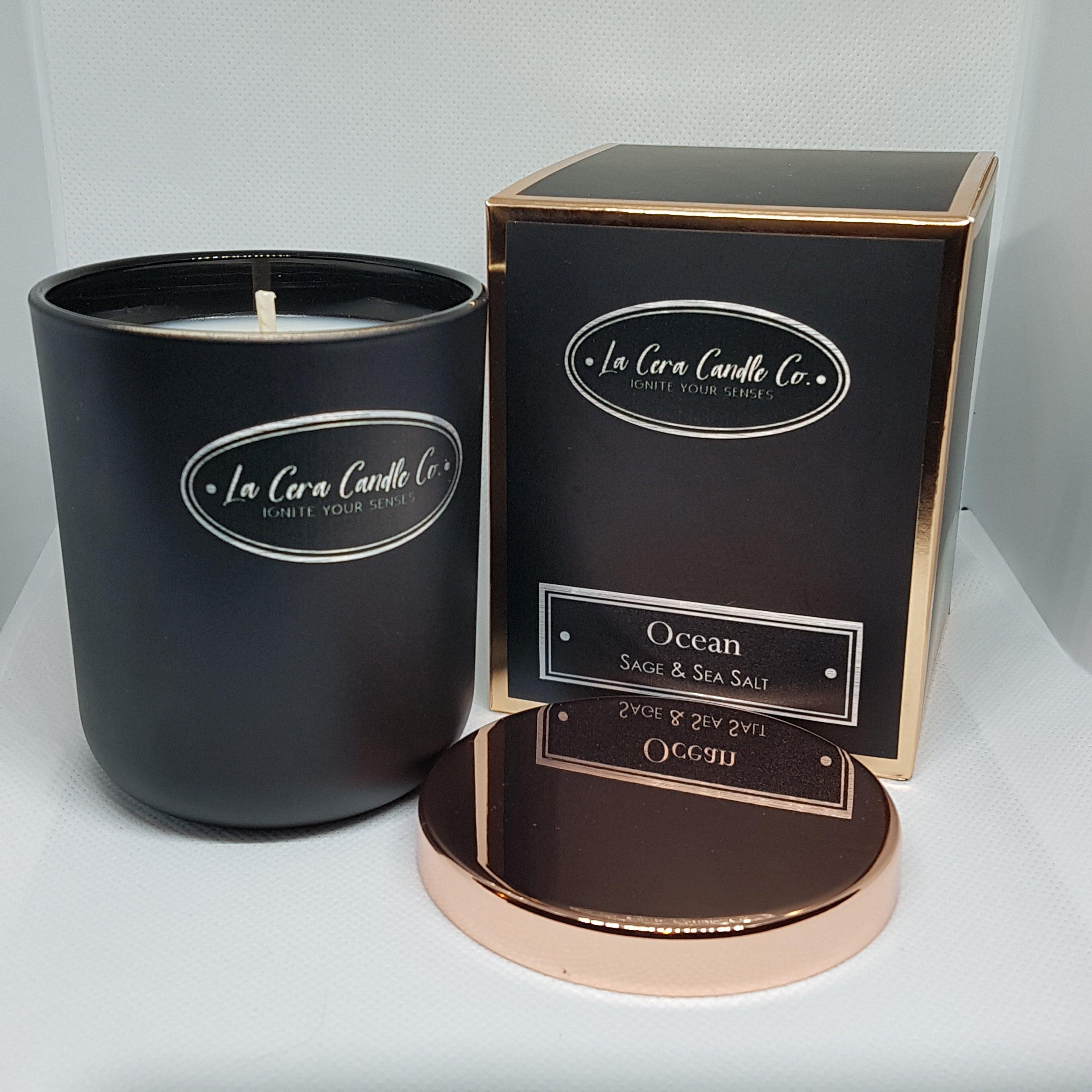 """Noir"" Soy Wax Candle Rose Gold 20cl-Candle-Celtic Beard"
