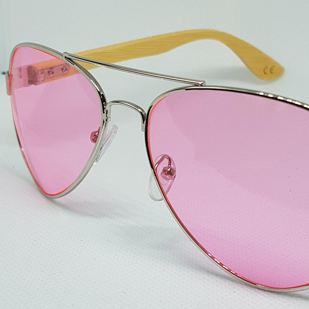 ORAKLE Sunglasses - Pink Aviator-Sunglasses-Celtic Beard