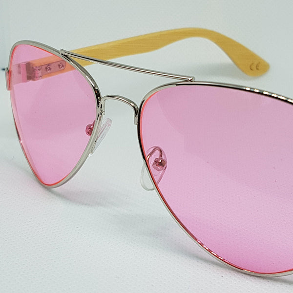 ORAKLE Sunglasses - Pink Aviator - Celtic Beard