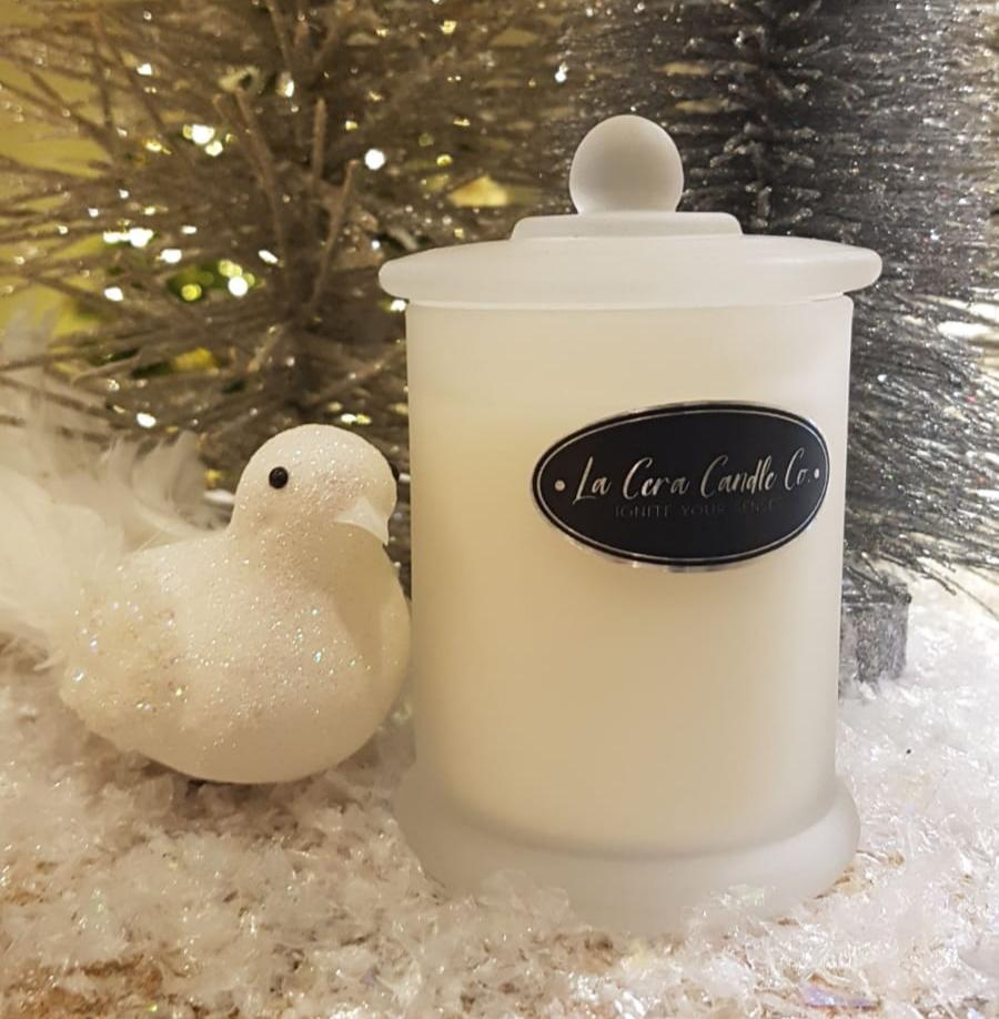 Christmas Candle Frosted 20cl-Candle-Celtic Beard