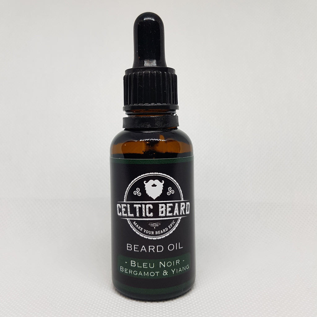 Beard Oil - Bleu Noir (Bergamot & Ylang) 30ml-Beard Oil-Celtic Beard