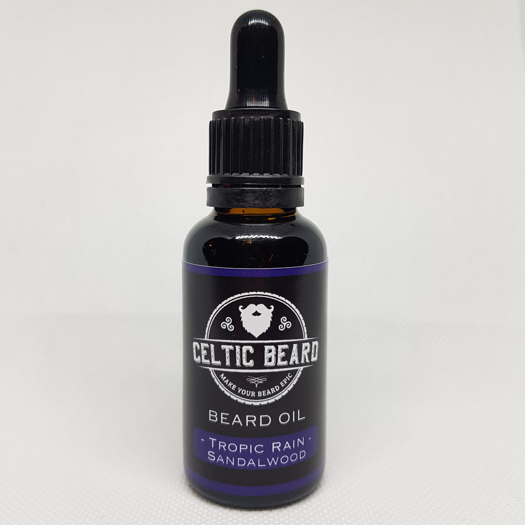 Beard Oil - Tropic Rain (Sandalwood) 30ml-Beard Oil-Celtic Beard