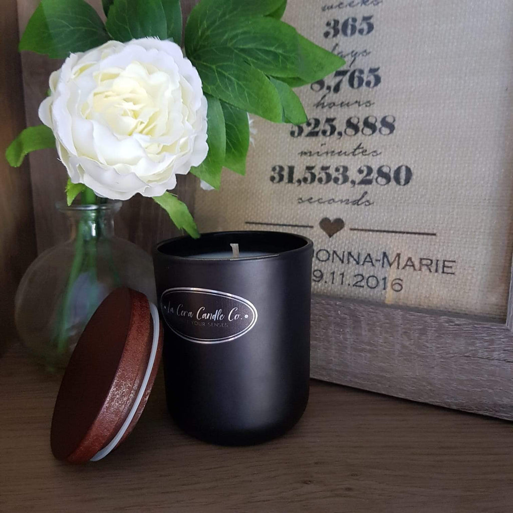 """Noir"" Soy Wax Candle Mahogany 20cl-Candle-Celtic Beard"