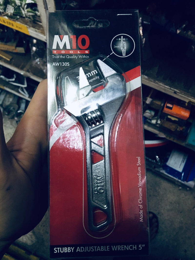 "M10 5"" Stubby Adjustable Wrench  