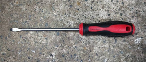 M10 235 Soft Handle Screwdrivers (-) Type | Sizes : 3 x 100mm - 6.5 x 150mm | Model : 007-035-0304 to 007-035-06506