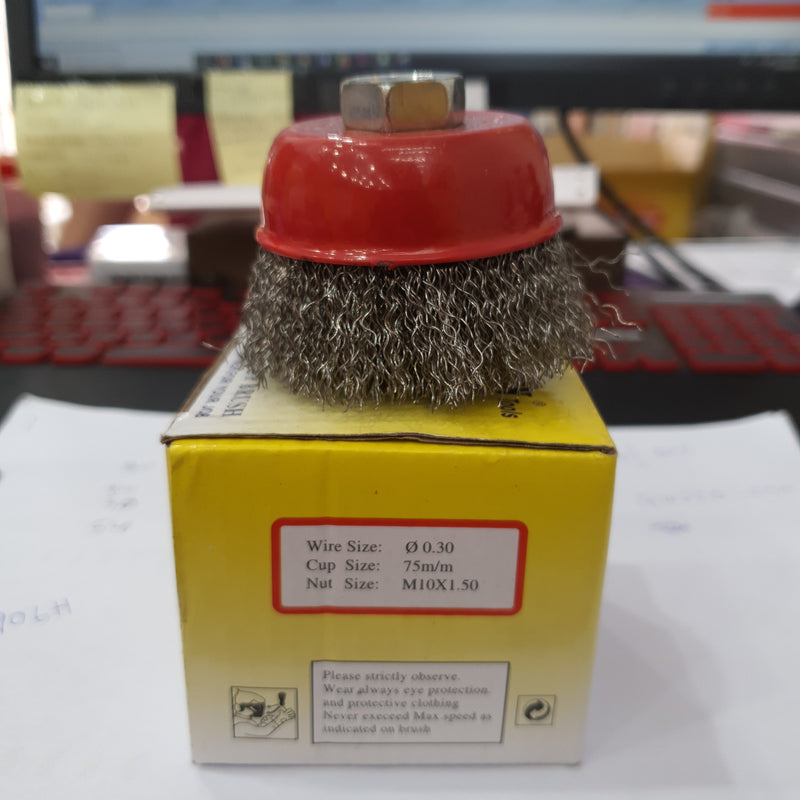 "Action Cup Brush 3""Xm10X1.5 SS 