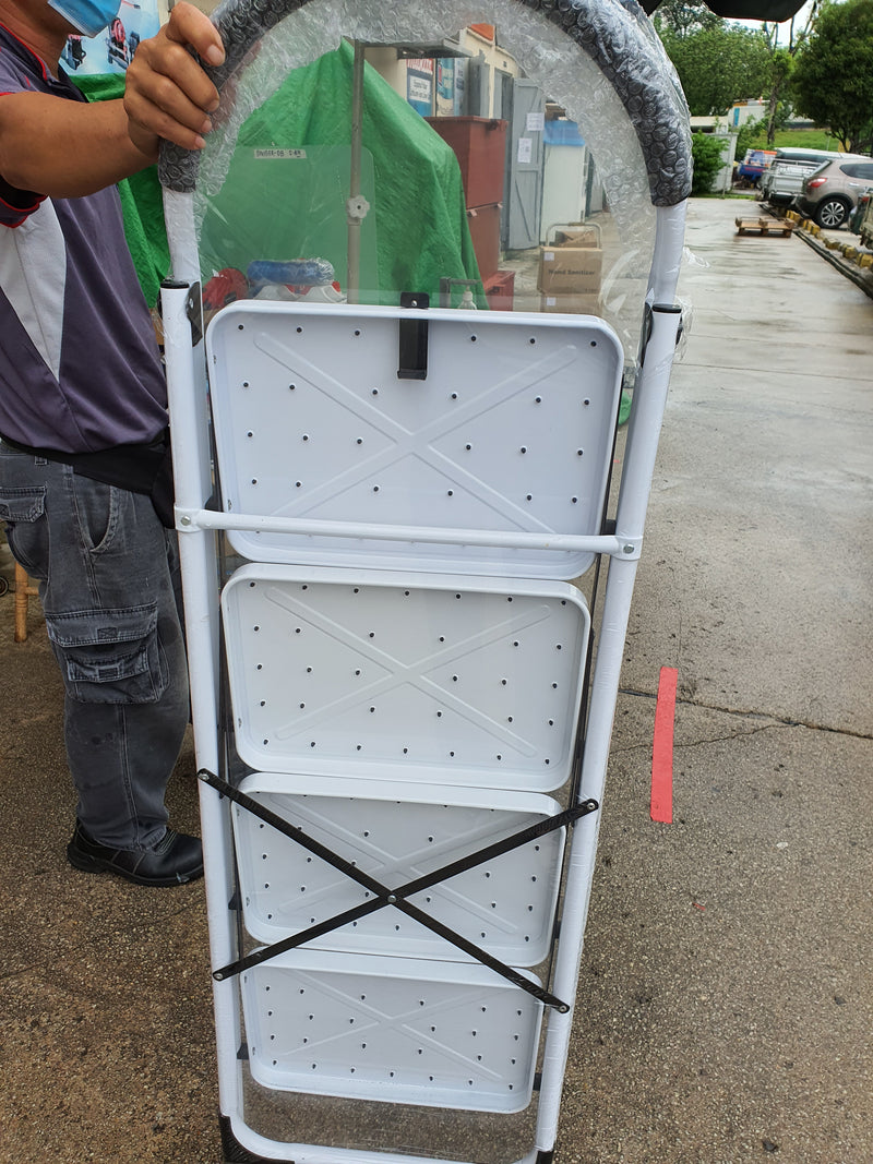 Steel White Stool Ladder l Steps : 2 - 5 Steps l Model : L-OR-SL/L-XG102S