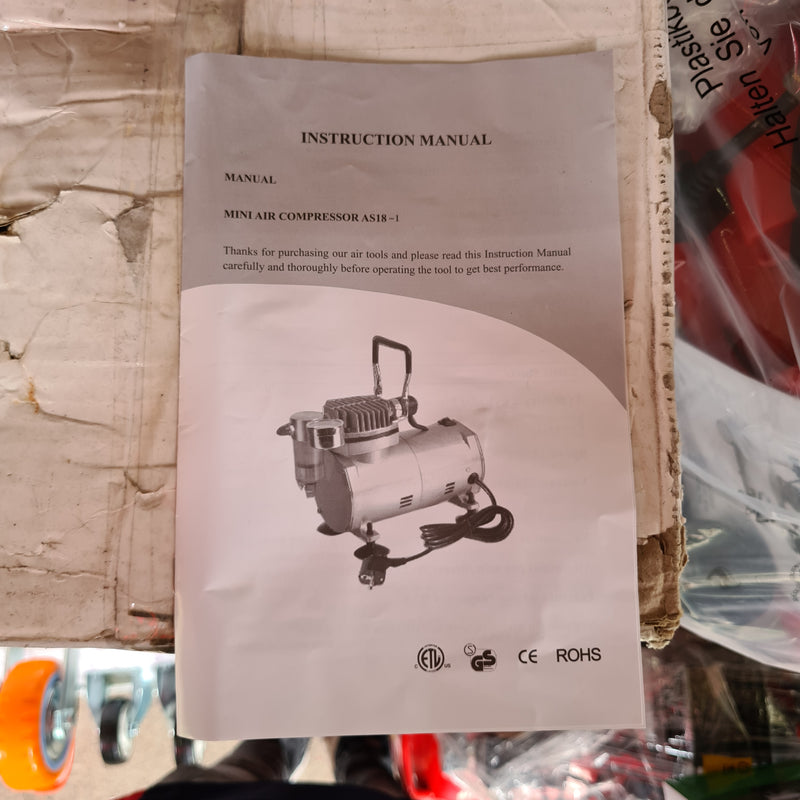 Hymair 1/6 Hp 20-23 L/Min Mini Air Brush Compressor Comes With Airbrush | Model : AS18-1