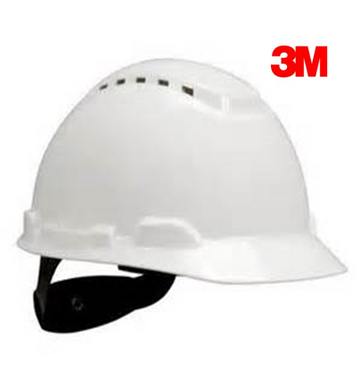 3M Psb H-701V Hardhat Helmet White 4Pt Ratchet Suspension C/W Chin Strap | Model : 3M-H701V