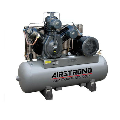 AIRSTRONG 10HP 230L 415V 175PS 12 BARS TYPE 30 2 STAGES, WARRANTEE 12 MONTHS NOT INCLUDE MOTOR - Aikchinhin
