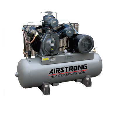 AIRSTRONG 7.5HP 230L 415V 175PSI, Model : A-H75A, TYPE 30 AIR COMPRESSOR 2 STAGES WARRANTEE SIX MONTHS NO