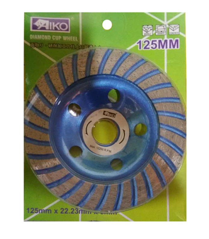 "Aiko 5"" Blue Turbo Diamond Cup Wheel 