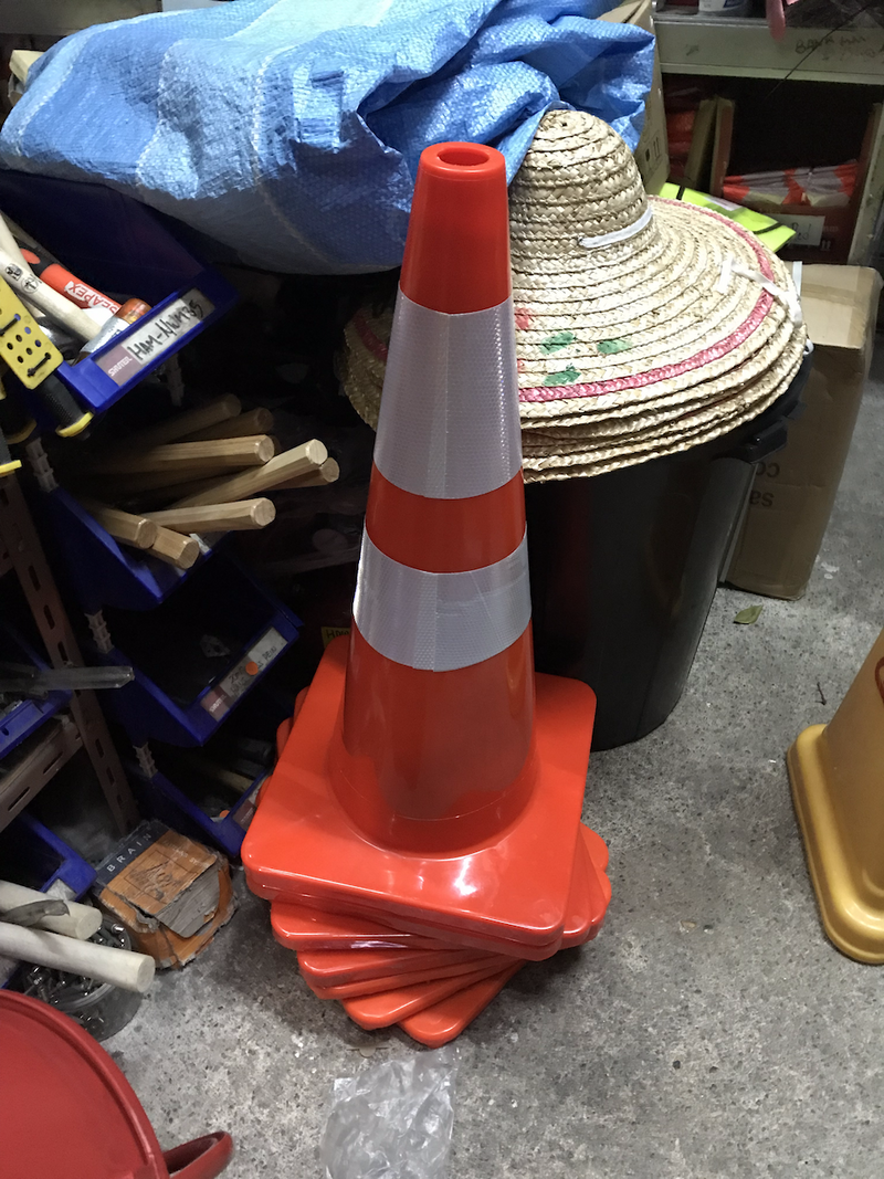 Aiko 70cm Safety (Traffic) Cone | Soft & Unbreakable | Model : CONE-7093 - Aikchinhin