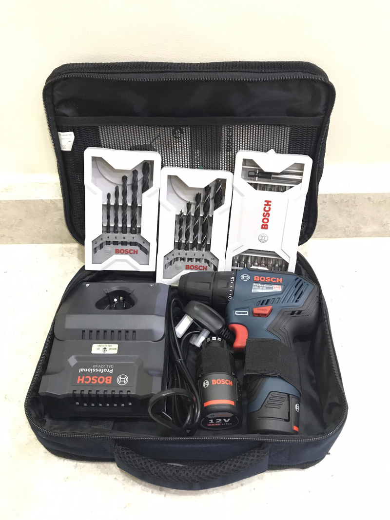 BOSCH 12V 10mm Brushless Driver Drill | Model : GSR 12V/30 (Free Accessories) - Aikchinhin