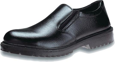 KING'S Black leather slip-on SAFETY SHOE | Model : KJ 424 X, Sizes : #5 (39) - #11 (45) - Aikchinhin