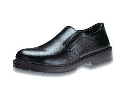 KING'S Black Full grain printed leather slip-on WORK SHOE | Model : KJ 424 Z,  Sizes : #5 (39) - #13 (47) - Aikchinhin