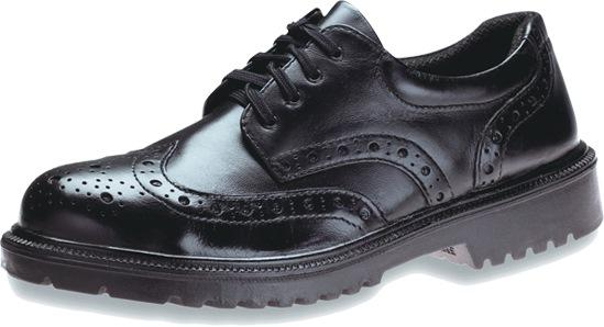 KING'S Black Executive Full Grain Leather Laced Safety Shoe | Model : KJ484SX, UK Sizes : #6(40) - #9(43)