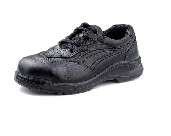 KING'S ladies Black Full grain leather laced SAFETY SHOE | Model : KL 331X, Sizes : #3 (37) - #8 (42) - Aikchinhin