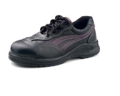 KING'S Black/Violet Full grain leather laced SAFETY SHOE | Model : KL 335 X (sizes : #4 - #8) - Aikchinhin