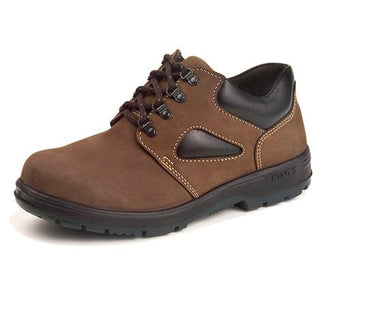 KING'S Dark Brown Nubuck leather laced SAFETY SHOE | Model : KP 900 KW, Sizes : #6(40) - #10 (44) - Aikchinhin
