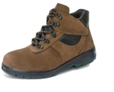 KING'S Dark Brown Nubuck Leather Laced Boots Safety Shoe | Model : KP 993 KW, Sizes : #6 (40) - #10 (44)