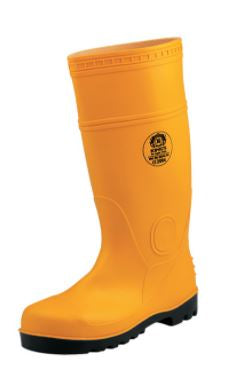 KING'S Yellow PVC Boots with Steel Toe Cap and Steel Mid-sole W/Steel | Model : KV20Y