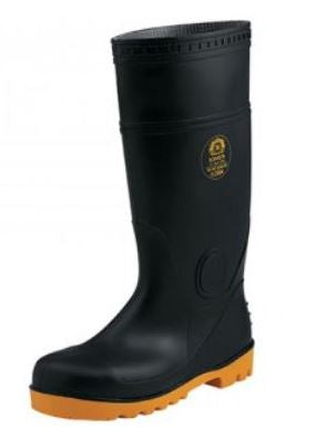 KING'S Black PVC Boots without Steel | Model : SHOE-KV30Z, Sizes#5(39) - #12(46)
