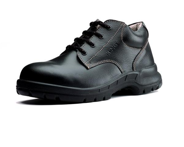 KING'S Low Cut Black Leather Laced Safety Shoe | Model : KWS701, UK Sizes : #05(39) - #12(46)