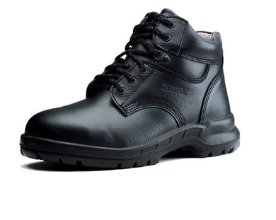 KING'S Black Leather Laced Boots Safety Shoe | Model : KWS 803, Sizes : #5 (39) - #12 (46) - Aikchinhin