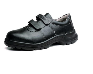 KING'S Black Full grain leather hook 'n' loop fasteners shoe SAFETY SHOE | Model : KWS 841, Sizes : #6 - #10 - Aikchinhin