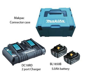 MAKITA 18V 5.0AH BATTERY KIT COMBO (198182-1) (2 PORT CHRG) | Model :  MKP 3 PT 182 - Aikchinhin