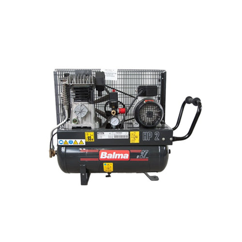 BALMA/ABAC 2HP 27L 240V AIR COMPRESSOR MODEL: NS12S/27 CM2 MADE IN ITALY WARRANTEE SIX MONTHS NO INCLUDE MOTOR BURN - Aikchinhin
