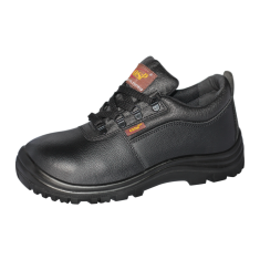 OSP Safety Shoes Low-cut black split leather with string | Model : OSP 868B UK Sizes : #4 (37) - #12 (47)
