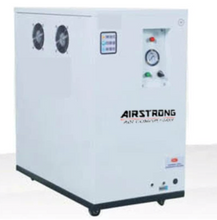 Load image into Gallery viewer, Airstrong 4Hp 50L 240V Oilless & Silent Box Air Compressor | Model : COF15-4050 (COF1500*2-50L)