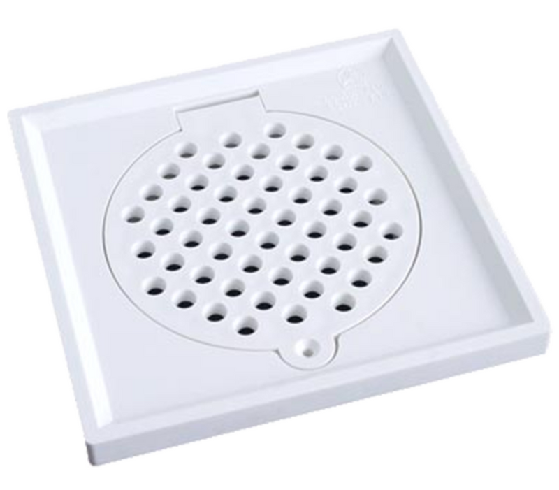 "Showy 6"" x 6"" Plastic Grating (Toilet Drain Cover) come with Edge 