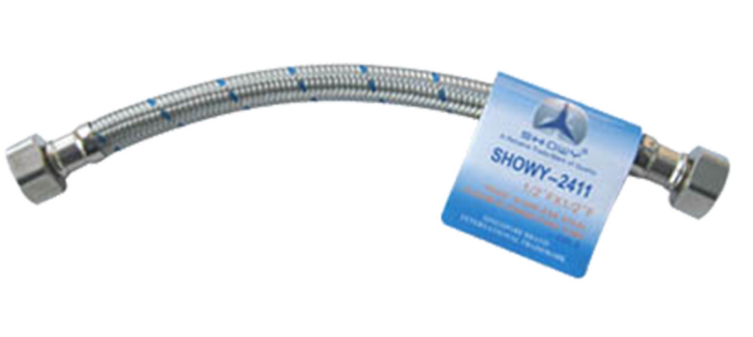 Showy Stainless Steel Flexible Hose (Connecting Tube) 25cm for Cold water | Model : #2411 - Aikchinhin