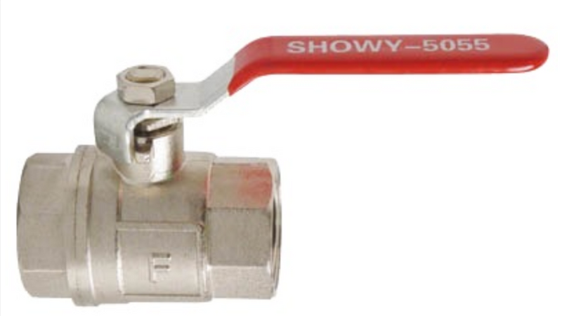 "Showy Red Long Handle F/F Ball Valve | Sizes : 1/4"", 3/8"", 1/2"", 3/4"", 1"", 1-1/4"", 1-1/2"", 2""  Model : 5051 / 5052 / 5053 / 5054 / 5055 / 5056 / 5057 / 5058 - Aikchinhin"