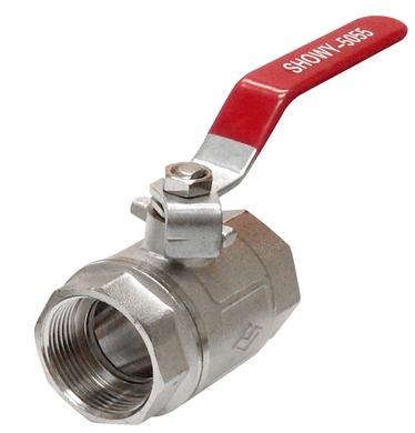 Showy Red Long Handle F/F Ball Valve | Sizes : 1/4