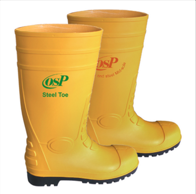 OSP Yellow Boots (with Steel Toe + Bottom Steel Plate) | Sizes : UK 7 - 12