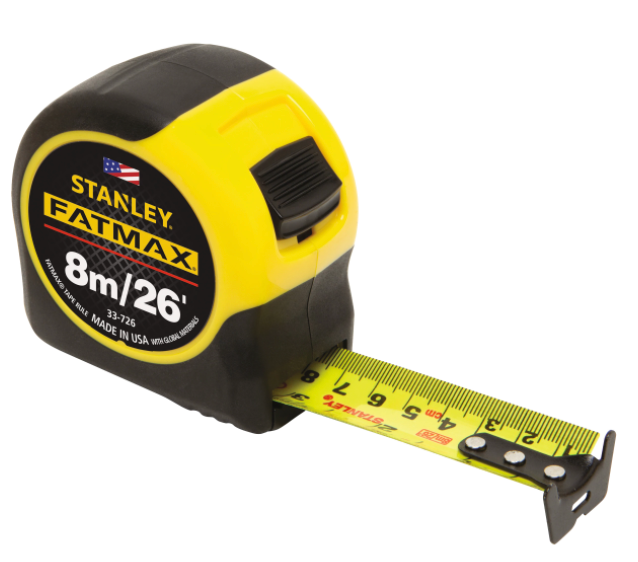 Stanley Fatmax Classic Measuring Tape | Length : 5m (16ft) or 8m (26ft) | Model : STY33719 / STY33726 - Aikchinhin