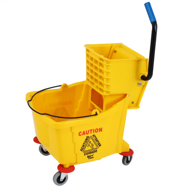 Aiko 32L Single Mop Trolley with Side Press and Handle | Model : MOPTRL-B040D - Aikchinhin