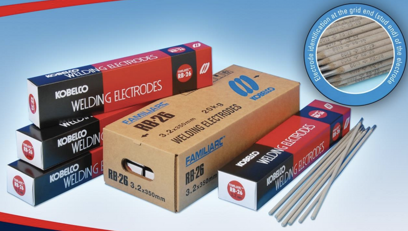 KOBELCO WELDING ELECTRODE RB26, Sizes : 2.6MM or 3.2MM or 4.0MM - Aikchinhin