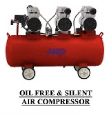 AIKO 5HP 90L OIL FREE & SILENT 8BAR AIR COMPRESSOR #GDG90, WARRANTEE SIX MONTHS NO