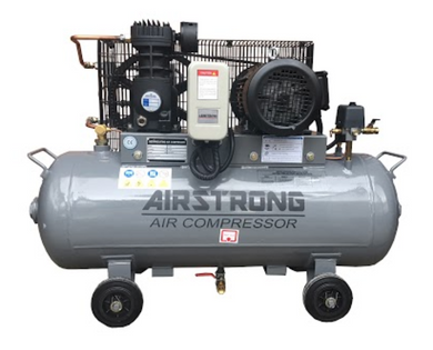 AIRSTRONG 3HP 100L AIR COMPRESSOR Model : A-EC15L 230V WARRANTEE SIX MONTHS NO COVER MOTOR BURN